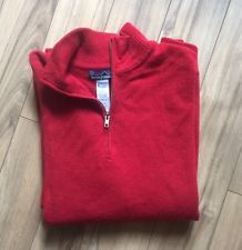 Patagonia Mens Sweater Wool Solid RED 1 4 ZIP Pullover Large Nice | eBay
