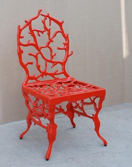 Marjorie Skouras coral chair - so cool!