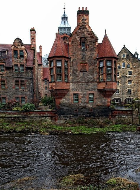 Edimburgo medieval en Escocia.
