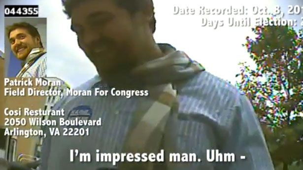 "Patrick Moran, son of Rep. Jim Moran (D-VA), resigned on Wednesday from the Moran for Congress campaign after he was caught on video apparently going along with a plan to commit voter fraud.    ""Effective immediately, I have resigned from the Moran for Congress campaign,"" Patrick Moran said in a statement to Talking Points Memo."
