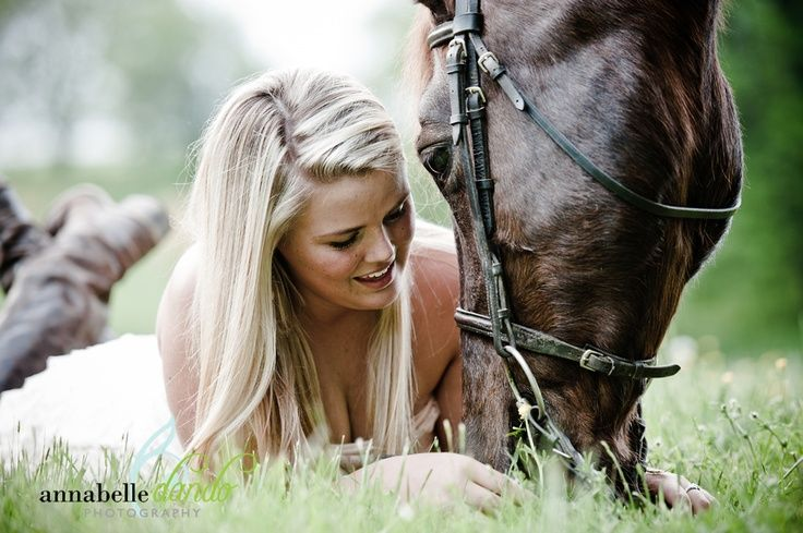 high-school senior (horses LOVE to graze,   this would be a cute and easy take picture)