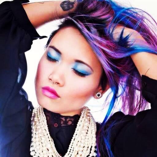 Splat hair color streaks | Multi-Colored Hair | Pinterest ...