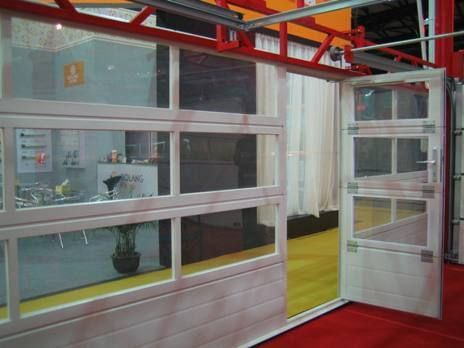 Full View Aluminum Glass Garage Door With Passing Door Glass Passingdoor Glass Garage Doors