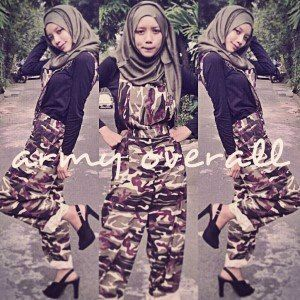 ARMY OVERALL IDR 112 material : soft denim, fit XL  fast respon 0857 2930 2137