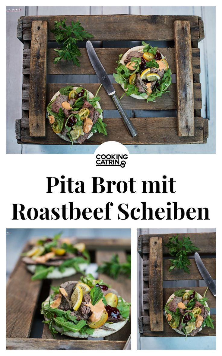 Pita Brot mit gegrillten Roastbeef, hausgemachte Pita Brote, Pita mit Roastbeef, Pita vom Grill, Pita Brote   pita bread grilled, bbq pita, grilled roastbeef, roastbeef recipe, roastbeef,