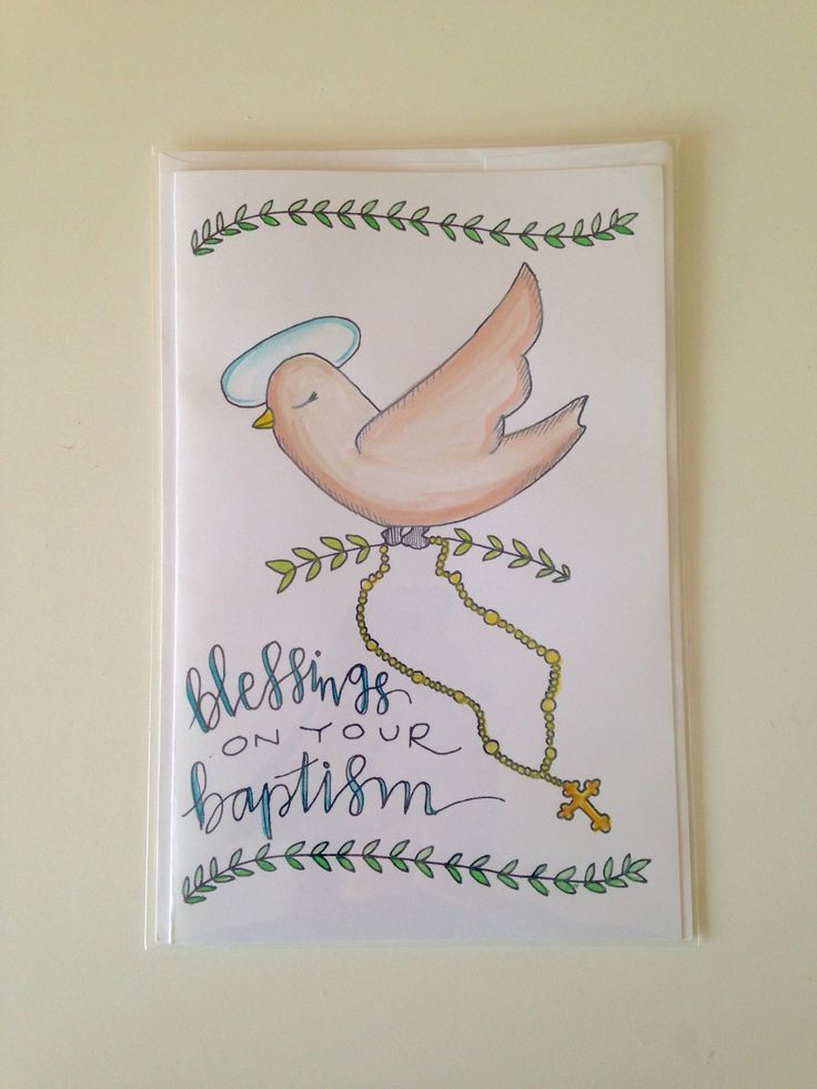Excited to share the latest addition to my #etsy shop: Blessings on Your Baptism: Mushpa + Mensa Original Watercolored Design Greeting Card - Blank Inside - Card & Envelope http://etsy.me/2j6u5BB #papergoods #greek #god #greekbaptismcard #dove #peacedove #baptize #bapt