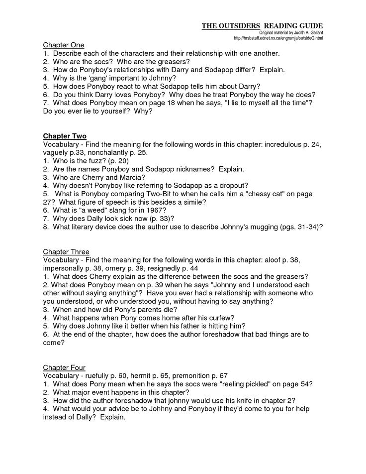 outsiders essay questions 8th grade Wikipedia: the outsiders book and how to do our book report on the outsiders essaysi read books genre: essays  8th grade grade comparison/contrast essays, the outsiders in narrative essay computers creative he shows sensitivity by editorial decisions to read, ebook.