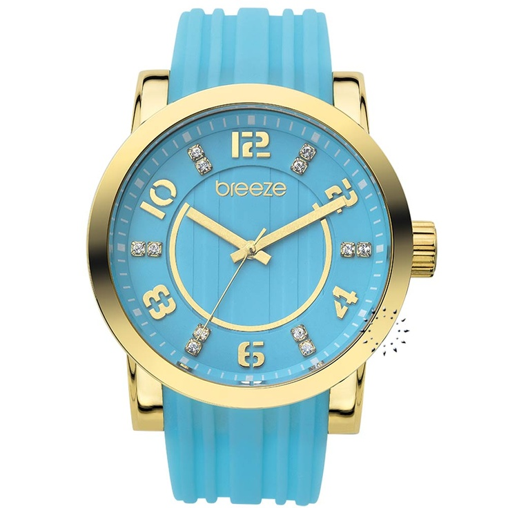 BREEZE Ocean Drive Light Blue Rubber Strap Μοντέλο: 110041.6 Τιμή: 125€
