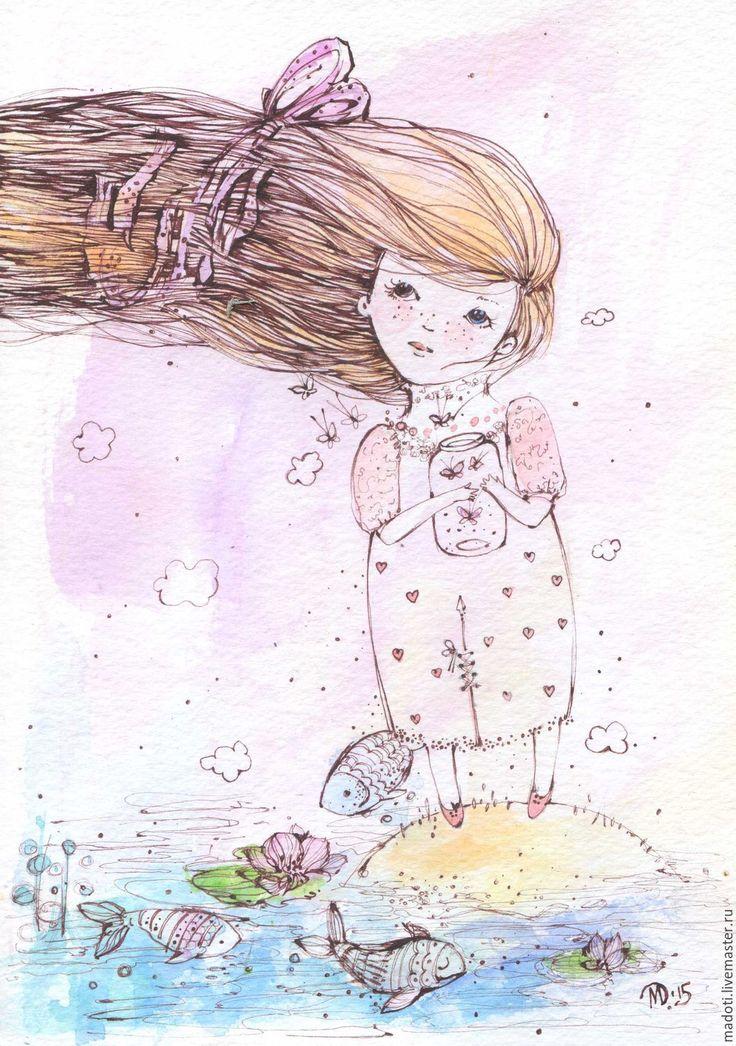 Купить Мечты - мечта, мечта сбывается, любовь, рыбки, бабочки, мадоти, подарок, для дома и интерьера