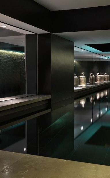 The Mayfair Mews in London, indoor pool by studio Candy & Candy _  Is this really a pool?