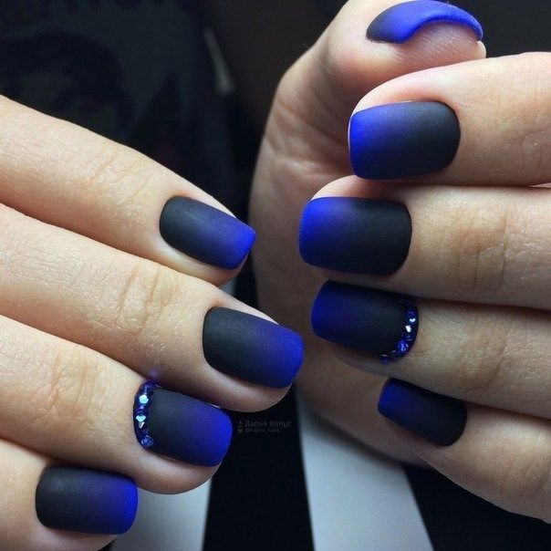 33 Cute And Cool Nail Designs 2019 With Images Blue Nail Art Designs Blue Nails