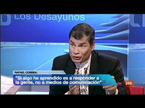 Rafael Correa a la antichavista Ana Pastor: Por supuestísimo que Capriles es un golpista - YouTube