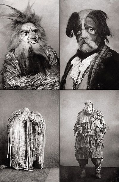 Maria Germanova and other actors of the Moscow Arts Theatre, in The Blue Bird by Maurice Maeterlinck (1908).Photos, Bedrooms Closets, Vintage Halloween Costumes, Creepy Halloween, Halloween Photographers, Creepy Vintage, Vintage Costumes, Blue Birds, Art Theatres