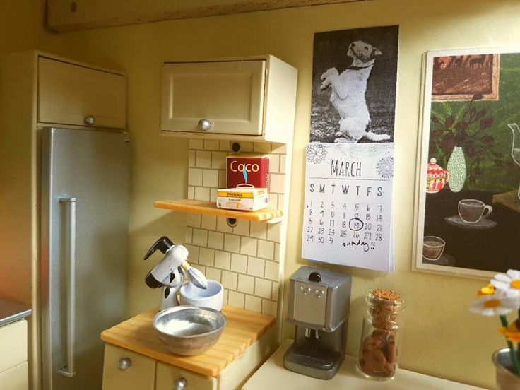 Wire Fox Terrier calendar I made for the kitchen.
