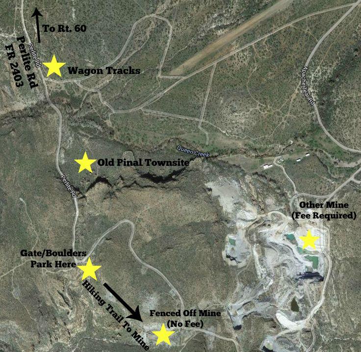 Superior Arizona Obsidian Map 1073 best Arizona