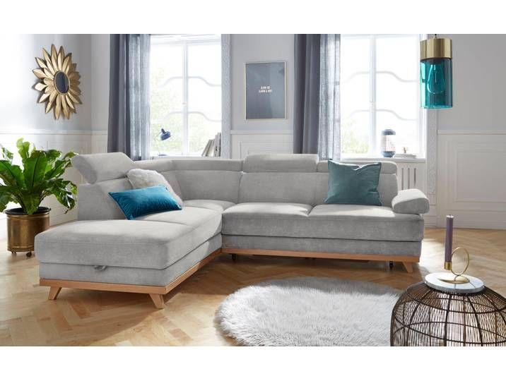 Exxpo Sofa Fashion Ecksofa Ohne Schlaffunktion Grau Mit Ruckenvers In 2020 Wohnen Sofa Couch