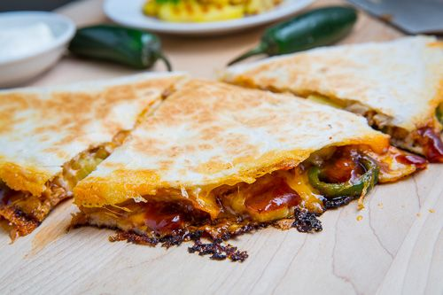 BBQ Chicken and Pineapple Quesadillas | Recipe