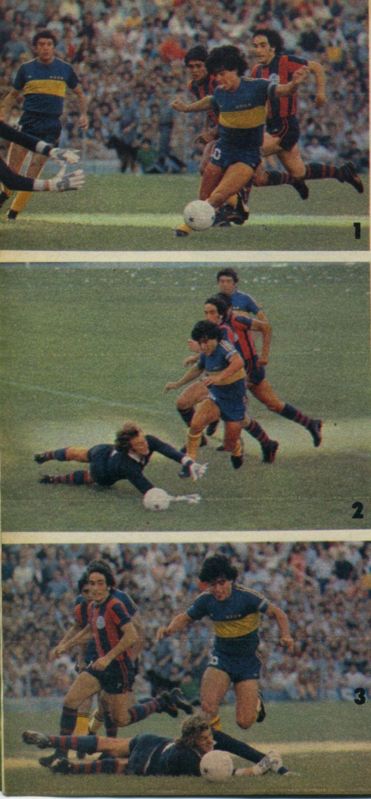 Boca Juniors - 1981 - Penal a Maradona
