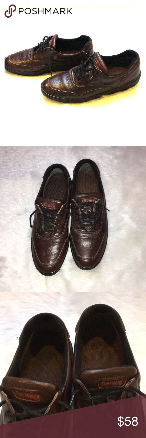 Vintage Red Wings Shoes with Vibram Sole Fantastic condition vintage Red Wing shoes with vibram sole. These babies are comfy, and stylish! The insoles are clean, and they shoes regularly polished. Seriously a great find. Red Wing Shoes Shoes Oxfords & Derbys
