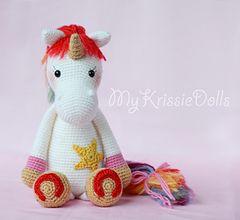 unicornio de ganchillo - patron en ingles