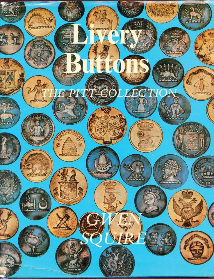 ButtonArtMuseum - Livery Buttons The Pitt Collection by Gwen Sqiure 1976 hardcover book signed