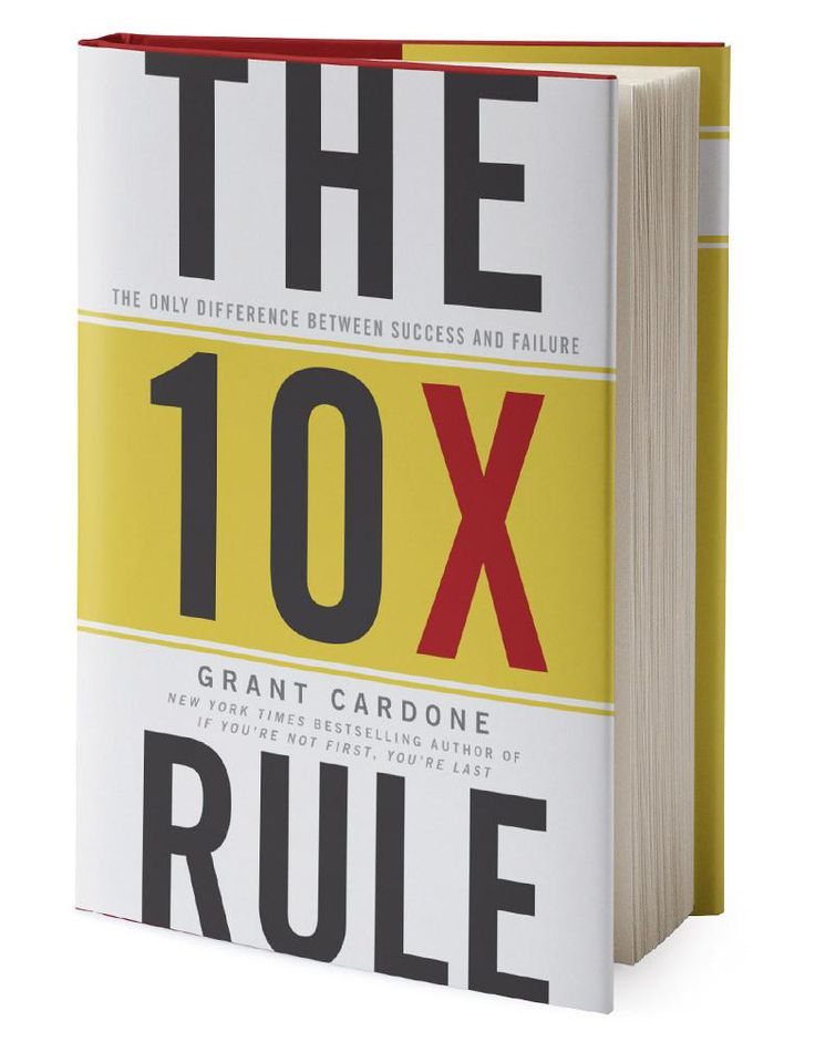 "BUY THIS The 10X Rule unveils the principle of ""Massive Action,"" allowing you to blast through business cliches and risk-aversion while taking concrete steps to reach your dreams. It also demonstrates why people get stuck in the first three actions and how to move into making The 10X Rule a discipline.sales training tips how to make sales cold calling"