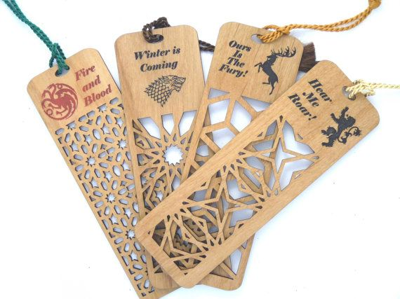 Inspired by Game of Thrones Engraved Bookmark Set of all Four FREE SHIPPING on Etsy, $29.99