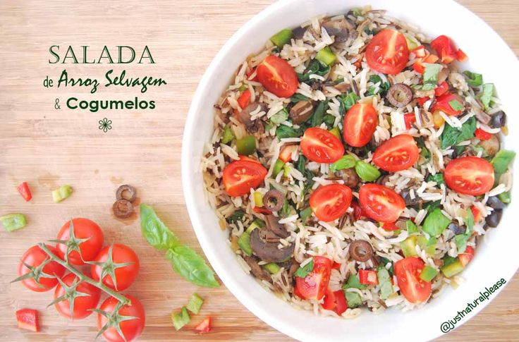Salada de Arroz Selvagem & Cogumelos