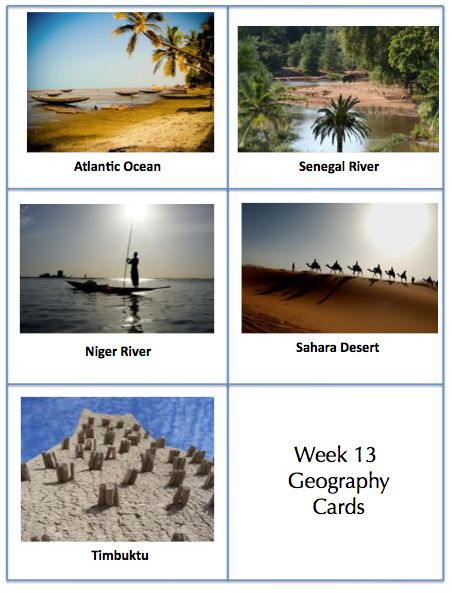 Entire Cycle 1 Geography Cards - Each Week Organized and Absolutely Free!