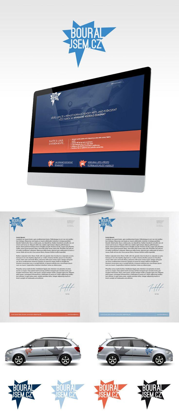 www.bouraljsem.cz #brand #logotype #webdesign