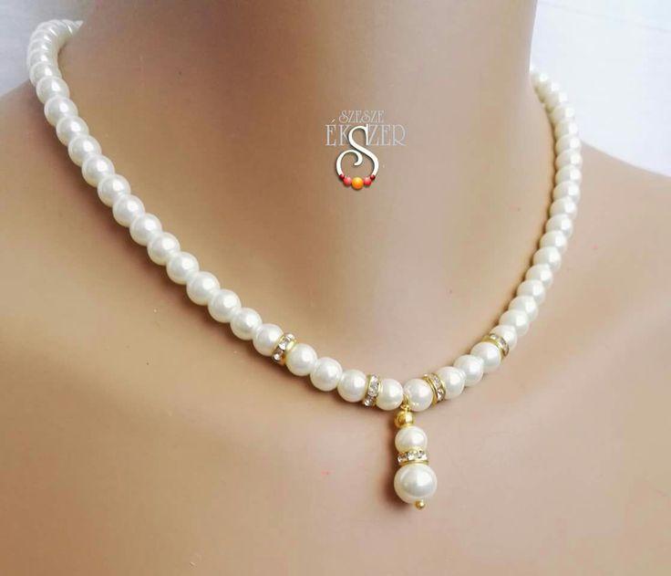 Bride jewelry, Bridal jewelry, Pearl Jewelry, Wedding Jewellry Set Gyöngyékszer, menyasszonyi ékszer
