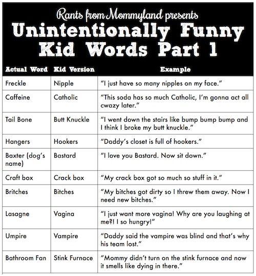 Unintentionally Funny Kid