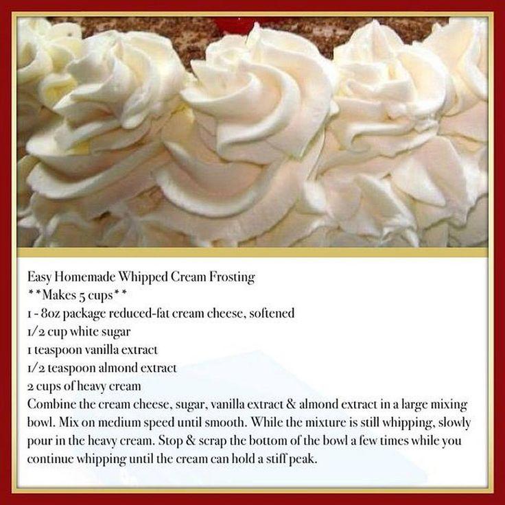 Easy Homemade Whipped Cream Frosting