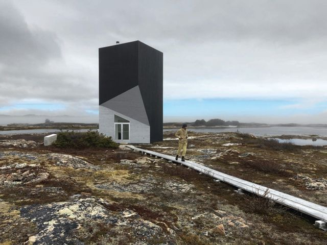 Fogo-Island-Tower-Studio-saunders-architecture-6: Artists Studios, Towers Studios, Building Materials, Modern Architecture, Fogo Islands, Work Places, Shoal Bays, Saunder Architecture, Cabins Chic
