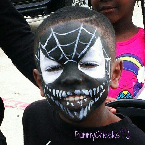 Face Painting #fall harvest #festival #venom #spiderman