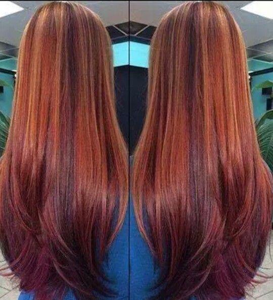 Red Carmel Amp Burgundy Hair Color Styles Amp Care