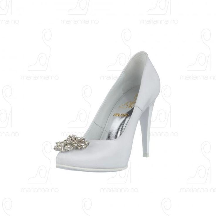 Buty Ślubne Białe Skóra Naturalna 38