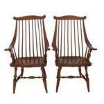 Early Heywood Wakefield Chairs - Pair $1,995  Sold.
