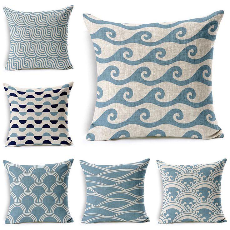 В новинка стиль домашнего декора диван-бросьте полосатый подушки площади печатных Cojines высокое качество хлопок белье Almofadas
