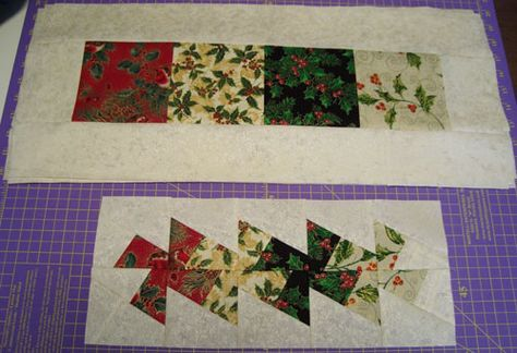 Free Lil Twister Quilt Ideas | Doodle-head.com: Quilting - Twist n Spin Christmas Placemats