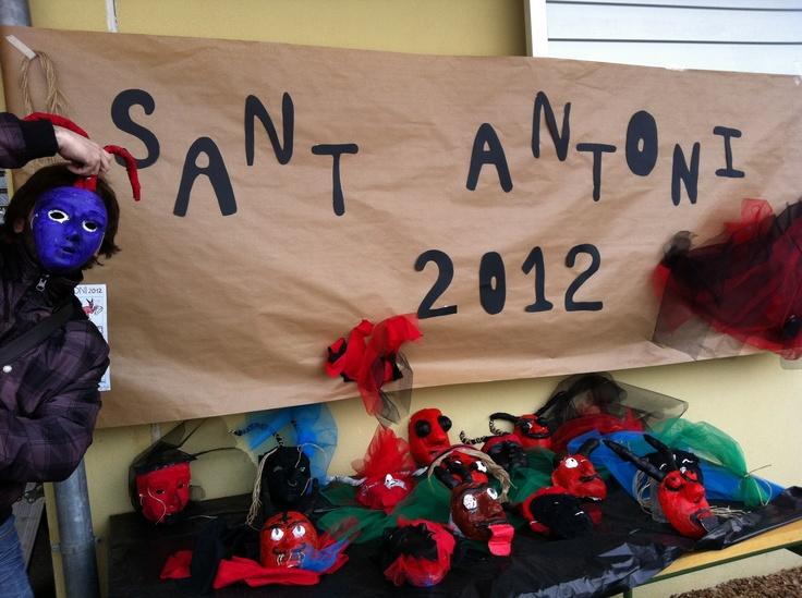 Màscares de dimoni per Sant Antoni.