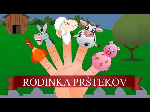 Rodinka Prštekov | Zvieratá z farmy | Nová verzia | Farm Animals Finger Family in Slovak - YouTube