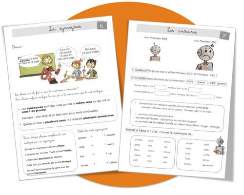Vocabulaire : les contraires et les synonymes