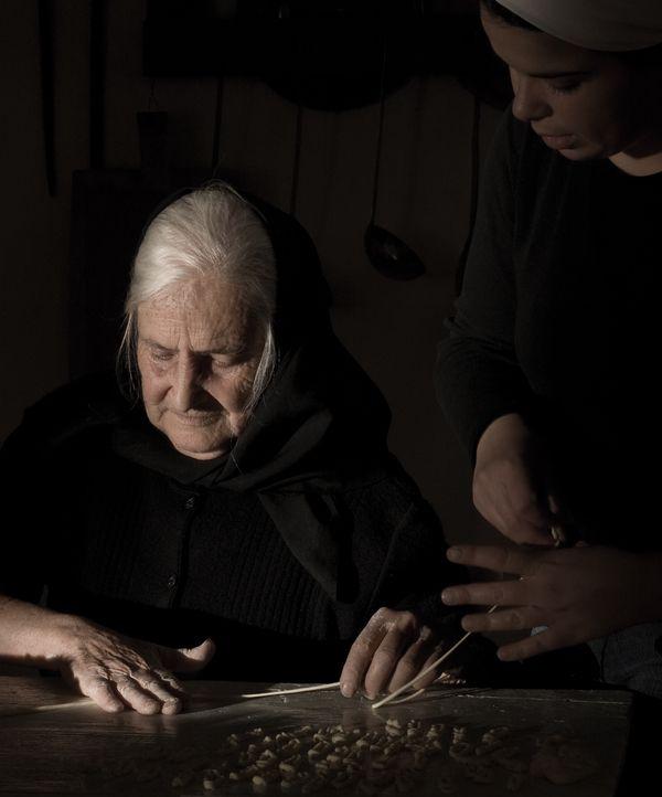 tzia Cesaria, making Lorighittas A journey in Sardinia, old ladies make pasta. by Antonio Saba, via Behance