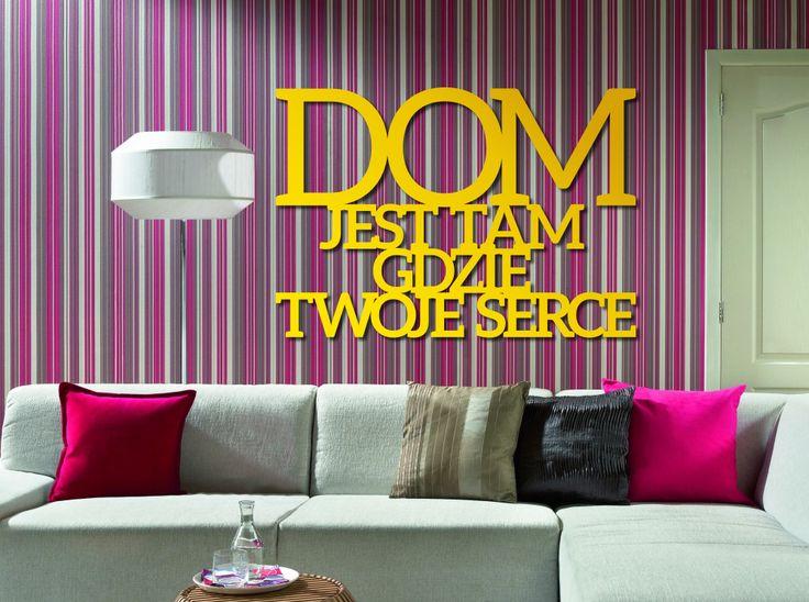 Dom jest tam gdzie twoje serce. #napis3D #napis #na #ścianę #dekoracja #wall #decoration #decor #shapedesign