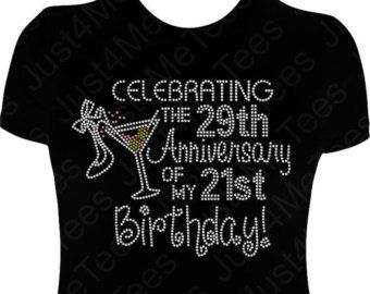 Birthday Shirt FIFTY And FABULOUS 50th Party Happy B Day Turning 50 Rhinestones Bling Tee In 2019