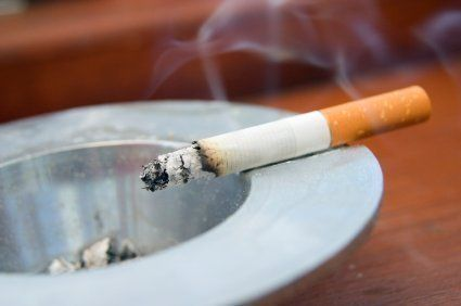 This is a guide about cleaning nicotine (cigarette smoke) off walls. A home occupied by smokers will collect nicotine residue on the walls and other surfaces.