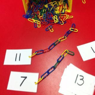 Easy counting and fine motor activity-those loops are tough!! Preschool classroom.
