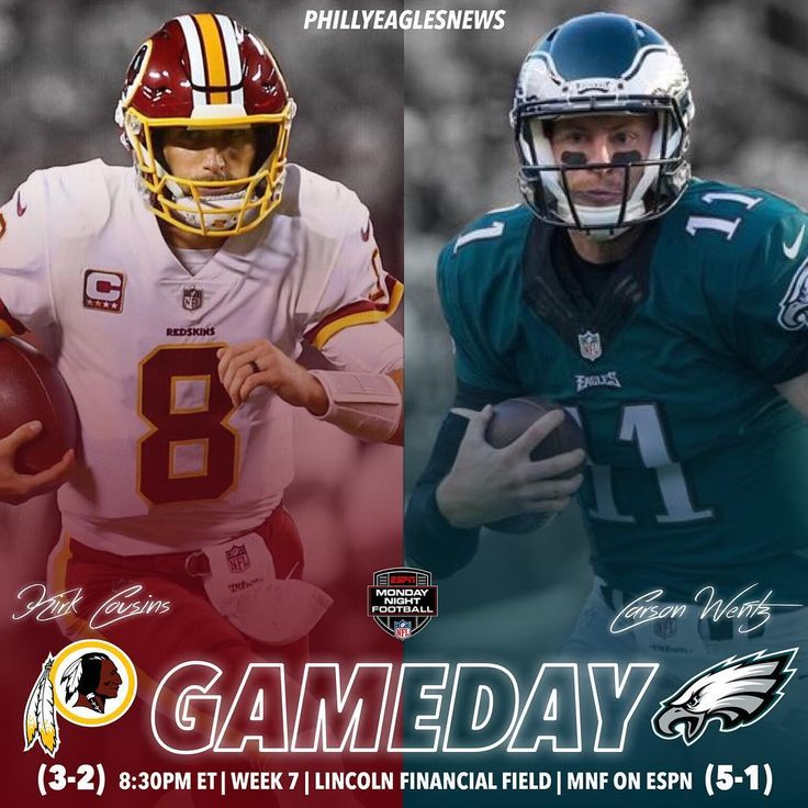 ITS GAMEDAY! The Eagles are back at home for a prime time divisional matchup against the Washington Redskins. A lot riding on this game tonight as the Eagles can assert themselves as the front runner in the NFC East with a win tonight improving to 3-0 in the division. Time to take care of business! #BroomsReady ________________ #EaglesNation #Eagles #Philly #Philadelphia #PhiladelphiaEagles #FlyEaglesFly #BleedGreen