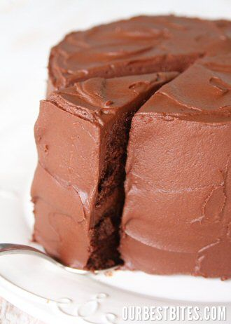 chocolate frosting - so good.  It was like ganache and melted in your mouth